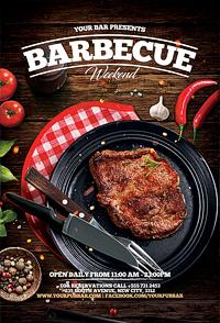 BBQ barbecue restaurant flyer'14