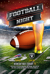 American Football Flyer / Football League '14