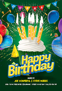 Birthday Party Kids Flyer '14