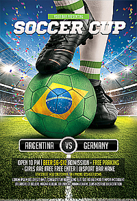 Soccer Game Flyer '14